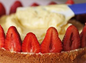 Montage fraisier sans gluten