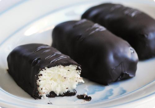 Bounty sans gluten ou barres coco chocolat