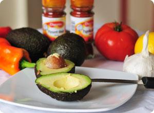 Les ingrédients du guacamole
