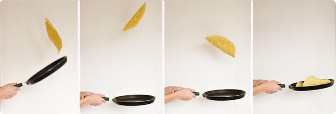 faire sauter les crêpes