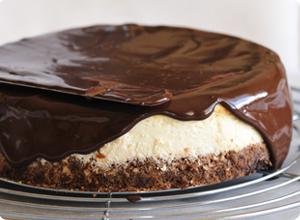 glaçage cheesecake coco chocolat