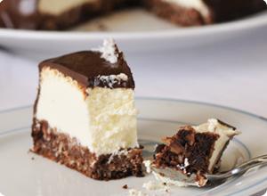 part cheesecake coco chocolat