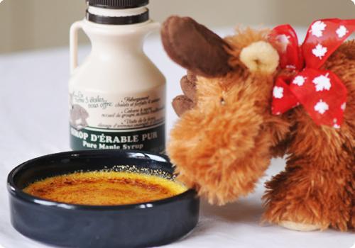 crème brulée au sirop d'érable