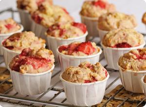 Muffins à la fraise sans gluten
