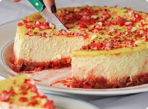 cheesecake pralines citron vert et mangue