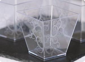 Verrine plastique jetable KOVA Transparente
