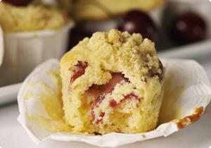 muffin sans gluten aux cerises