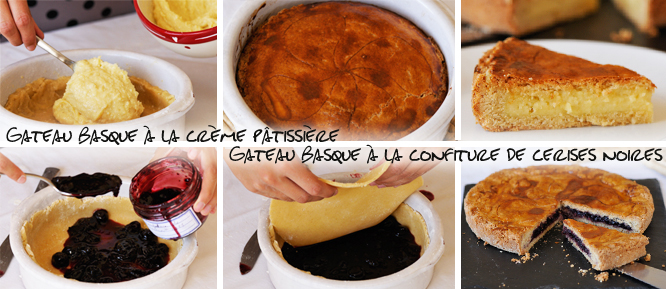 gateau basque cerises ou crème