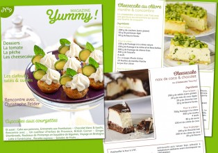 Sunny dans le Yummy Magazine