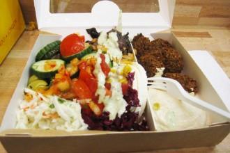 Falafels et salade