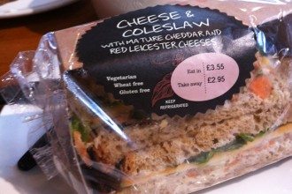 Sandwich cheese & Coleslaw sans gluten