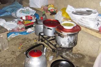 La cuisine itinérante de notre cuisinier !