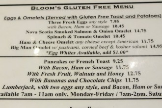 gluten free brunch bloom's