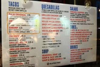 carte Dorado Tacos