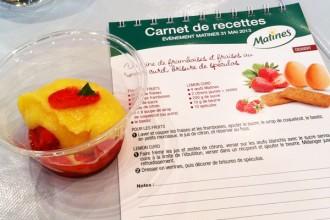 Version sans gluten des verrines de framboises et fraises au lemon curd brisures de speculos sans les miettes de speculos