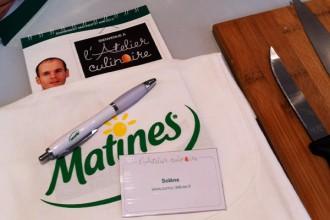 En plus du beau tablier Matines, cette année on a des bagdes avec nos blogs, la classe ;-)