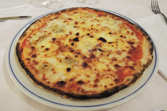 Pizza 4 fromages sans gluten