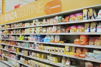 Rayon sans gluten en Italie