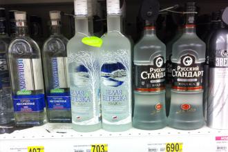 Quelques bonnes marques de vodka russe