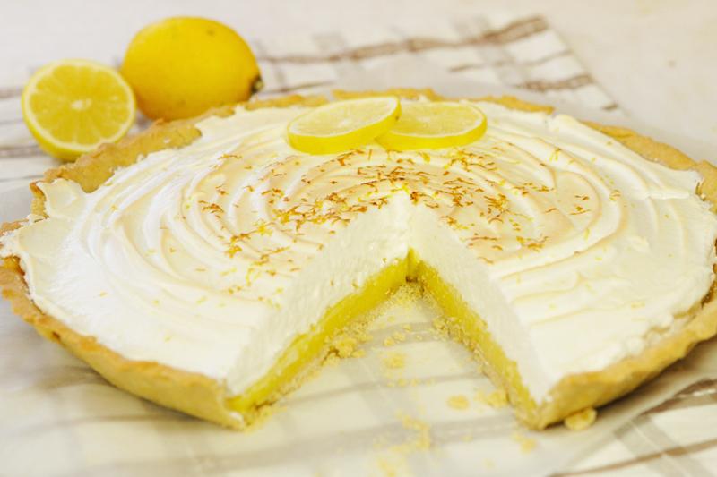 Tarte au citron meringu e sans gluten - Recette tarte au citron sans meringue ...