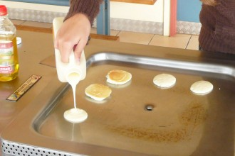 pancakes sans gluten au BBQ - Mix Basco