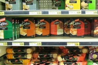 Rayon chips Delites au supermarché