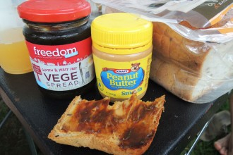 Vegespread et peanut butter