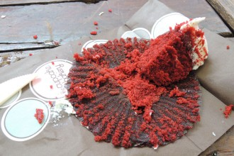 Red velvet cupcake sans gluten - The cupcake backery, Sydney
