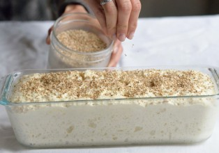 pain sans gluten avant cuisson