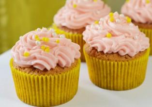 cupcakes sans gluten vanille / fraise