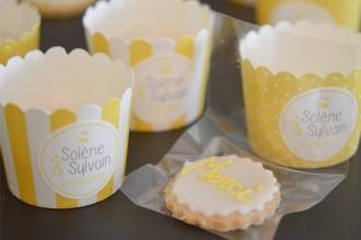 dragées cupcake sablé cadeau invité mariage