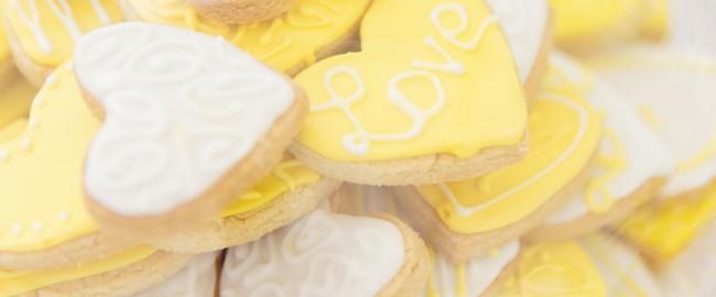 sablés coeurs mariage sans gluten