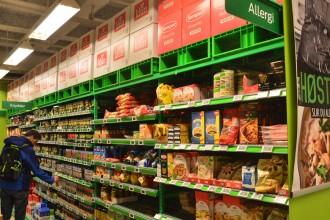 rayon sans gluten dans un supermarché norvégien