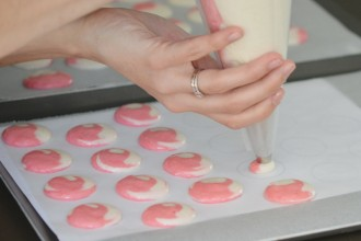 pochez les macarons bicolore