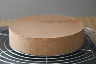 Le gâteau avant le glaçage