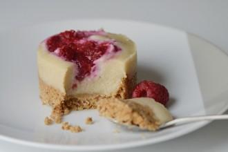 cheesecake vegan framboises