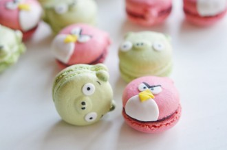 macarons angrybirds cochons oiseaux