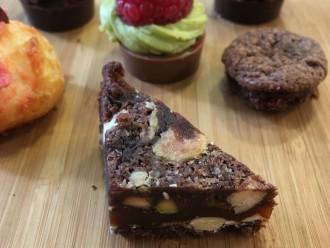 Brownie sans gluten au caramel