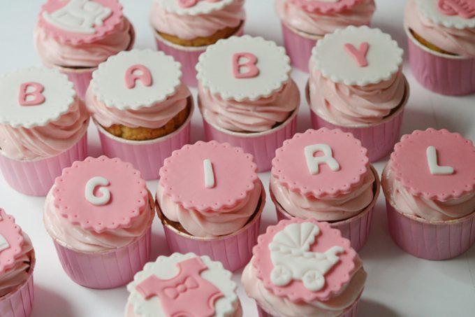 cupcakes sans gluten baby shower