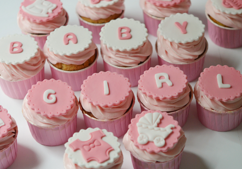 Cupcakes girly pour une baby shower {sans gluten} – Sunny ...