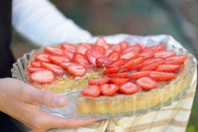 tarte fraises rhubarbe #FraîchAttitude