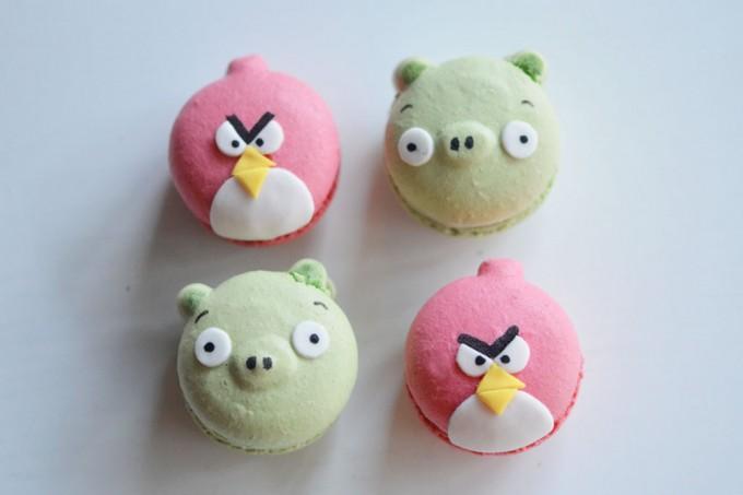 macarons angry birds oiseau cochon