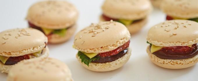 macarons mini burger