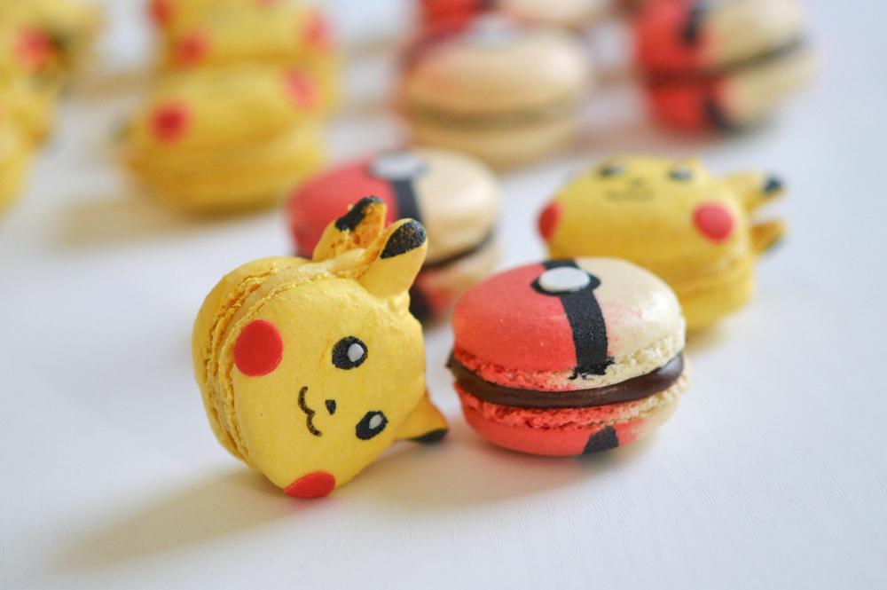macarons pokemon pickachu pokeball