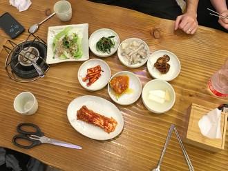 Banchan coréens (dont le fameux kimchi)
