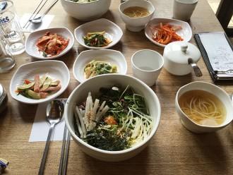 Bibimbap dans un restaurant à Séoul Insadong