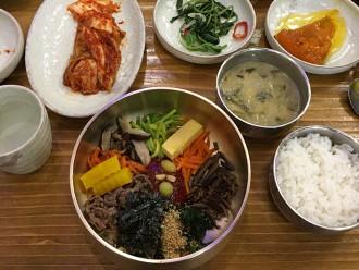 Bibimbap dans un restaurant à Jeonju Hanok Maeul