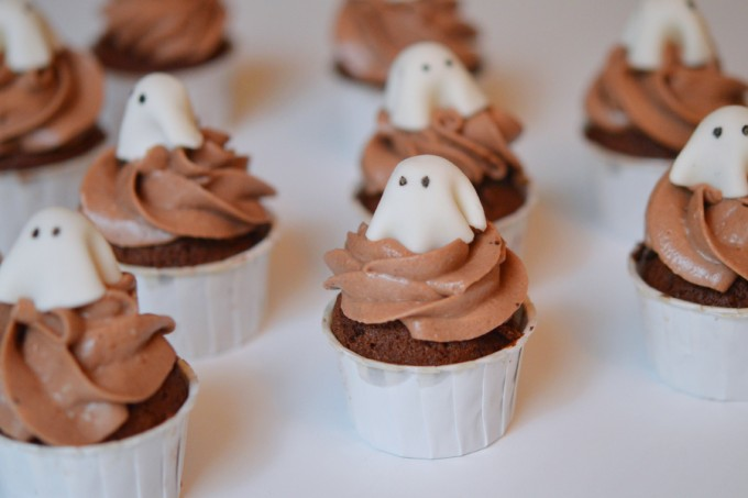 cupcake fantome halloween