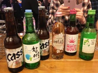 Soju et autres boissons alcoolisées