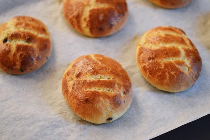 pains à la sortie du four